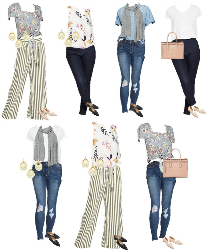 Travel Capsule wardrobe outfits from Target