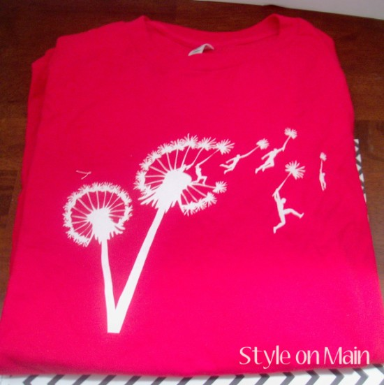 Dandelion tee shirt