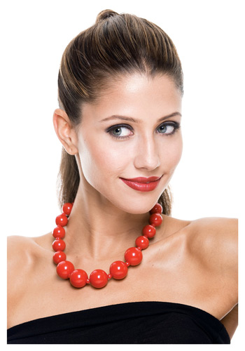 Bold Red Bead Necklace