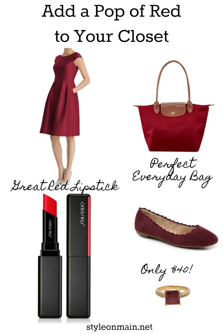 Easy Ways to add a pop of red to your closet