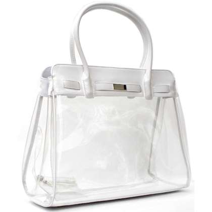Clear fancy purse