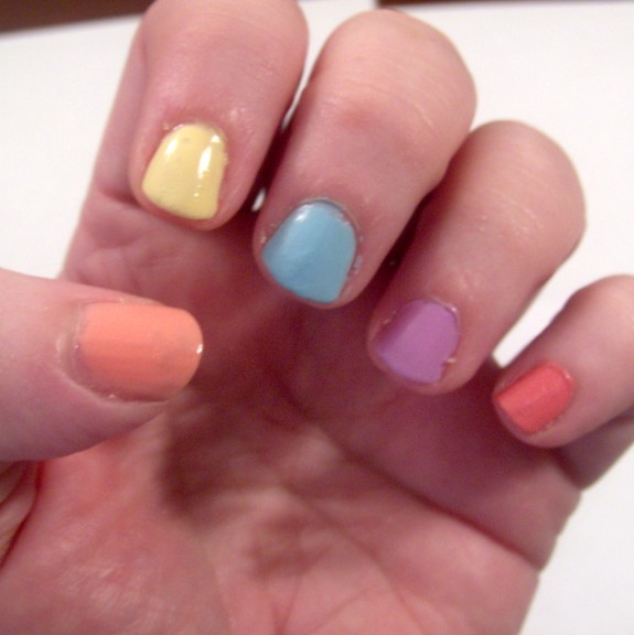 Easter Nail Art using Sinful Colors Sugar Rush collection
