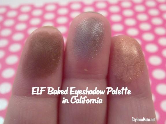 ELF baked Eyeshadows in California swatch