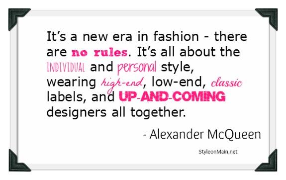 New era in fashion McQueen Quote