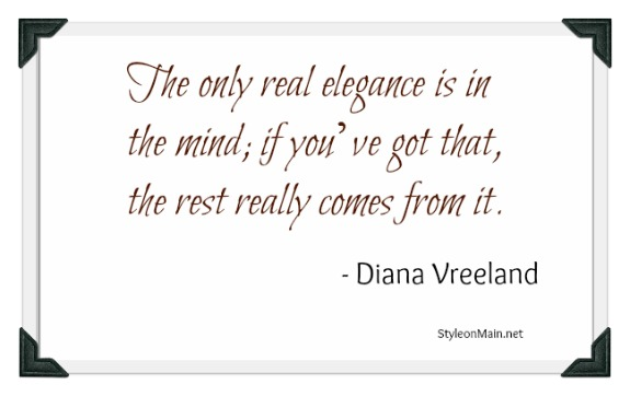 Fashion Quote Diana Vreeland Elegance
