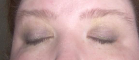 Emerald Green eyeshadow tutorial finished eyes