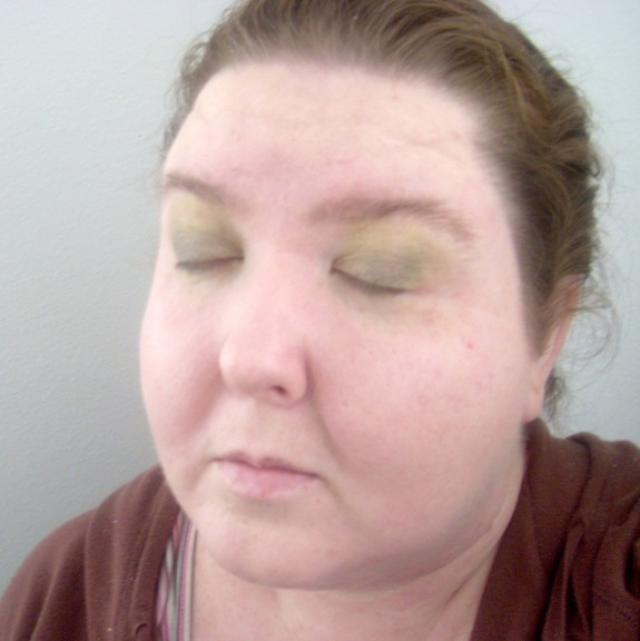 Emerald Green Eyeshadow tutorial step 2