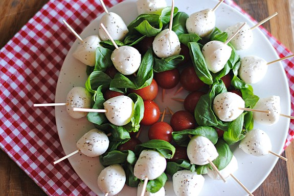Balsamic Caprese Salad Skewers recipe