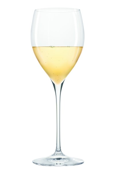 Glass of Moscato wine