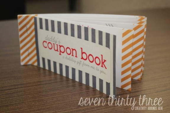 Coupon book for mothers day gift idea
