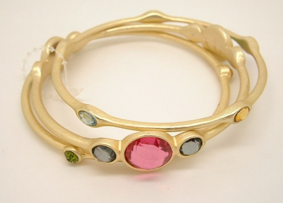 Gold Tone Bangle Bracelets mothers day gift ideas