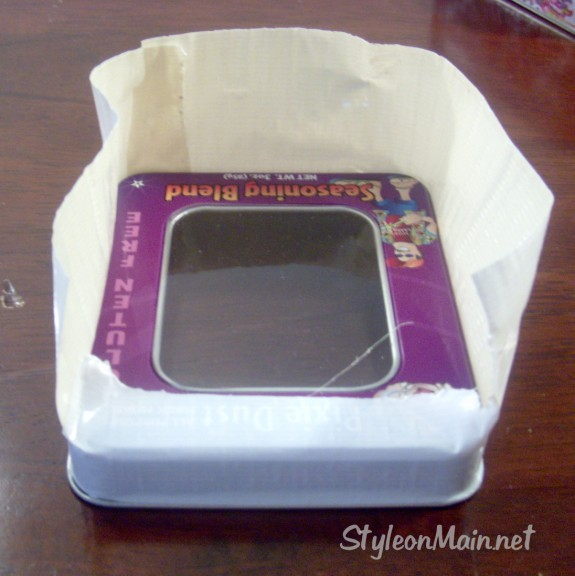 DIY Upcycled Duct Tape Box Lid