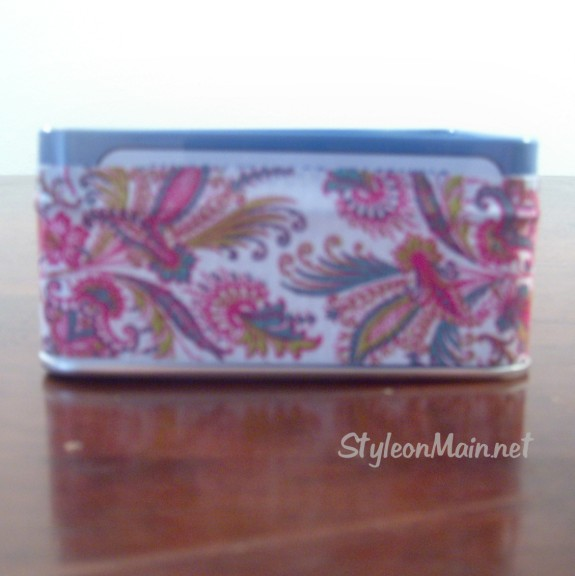DIY Upcycled Duct Tape Box Project