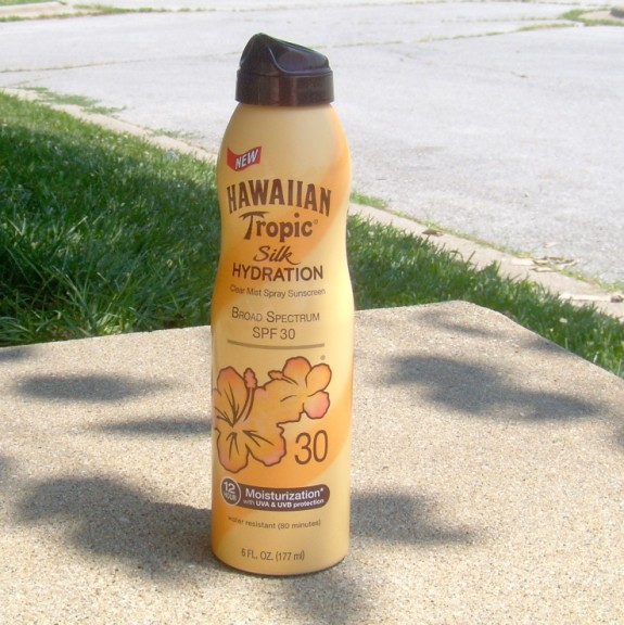 hawaiian tropic silk hydration clear mist sunscreen