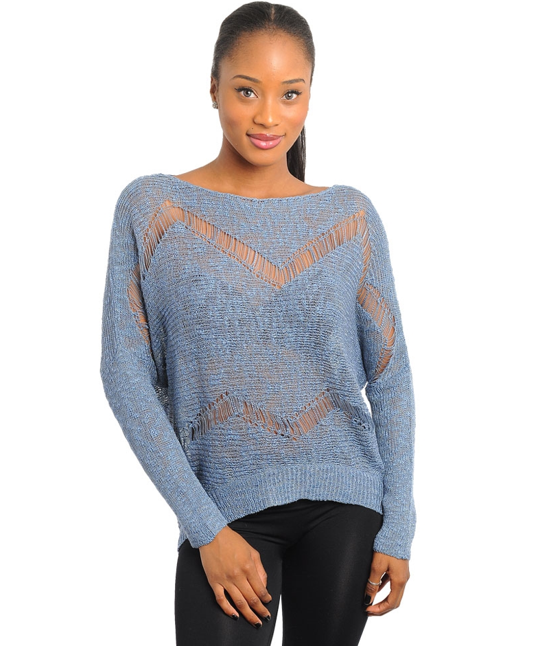 Chevron Sweater from 24/7 Frenzy