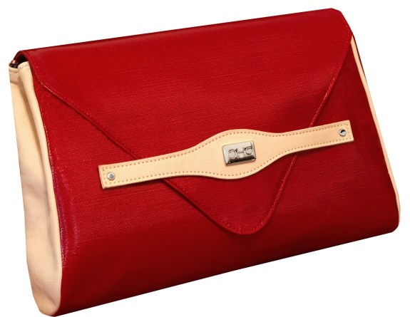 Vivian Waxed canvas clutch bag