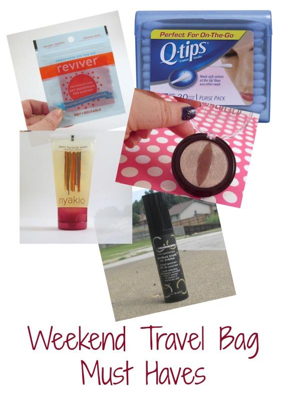 weekend-travel-bag-must haves