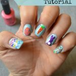 Carrot Nail Art Tutorial for Easter