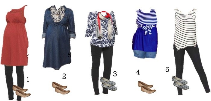 Target Maternity Mix and Match Fashion 1-5