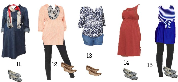 Target Maternity Mix and Match Fashion 11-15