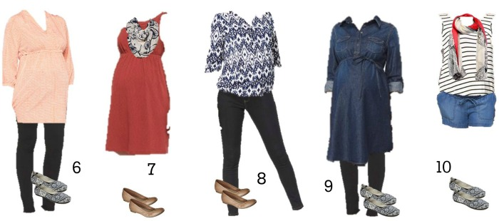 Target Maternity Mix and Match Fashion 6-10
