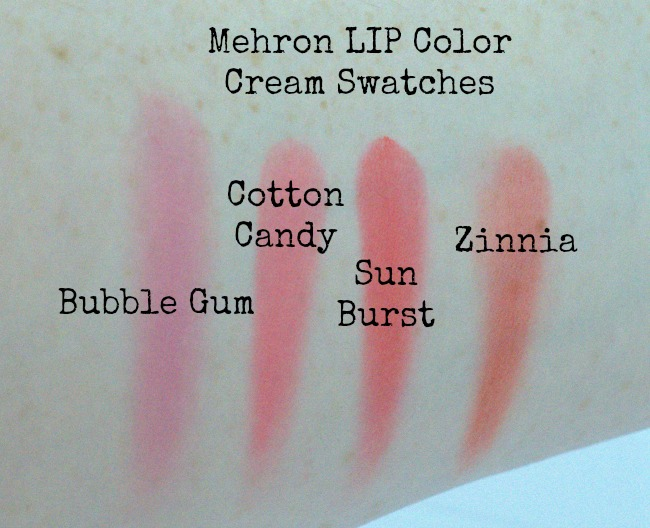 mehron lip swatches 1