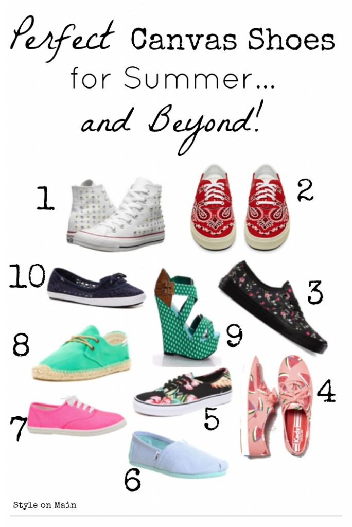 perfect canvas shoes for summer and beyond