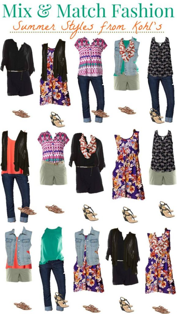 Kohls Mix and Match Wardrobe for Summer