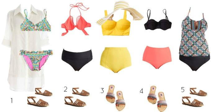 Modcloth Mix and Match Swimwear 1-5