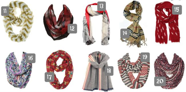 20 Fall Scarves Under 20 2