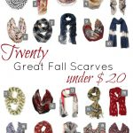 20 Great Fall Scarves under $20
