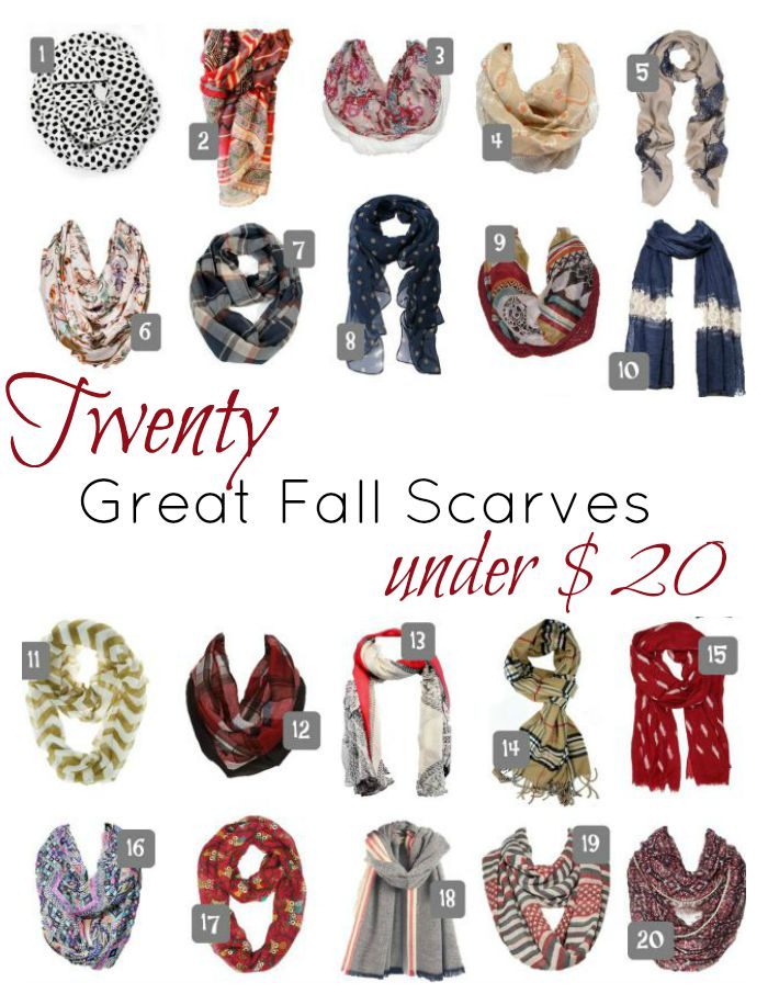 20 great fall scarves under 20