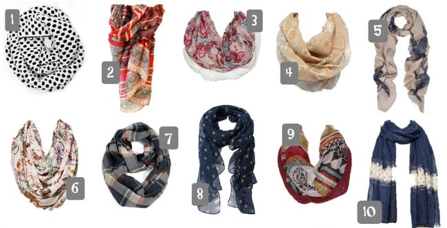 Fall Scarves Under 20 1