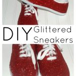 How to Make DIY Glitter Sneakers Quickly and Easily