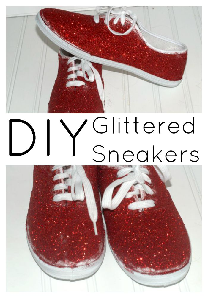 How to make your own DIY glittered sneakers