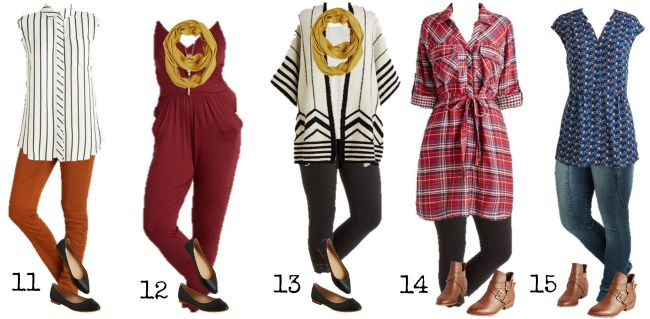 Modcloth Mix and Match Wardrobe Summer to Fall 11-15