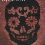 Distressed Sugar Skull Bleached T Shirt Tutorial