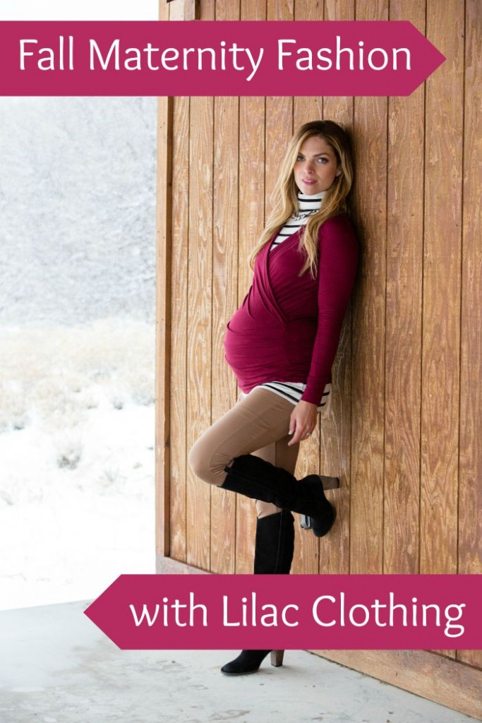 fall maternity fashion with Lilac clothing