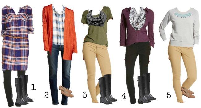 Target Mix & Match fall wardrobe