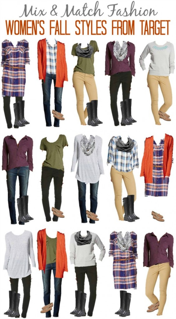 Target Mix and Match wardrobe for fall Fashion