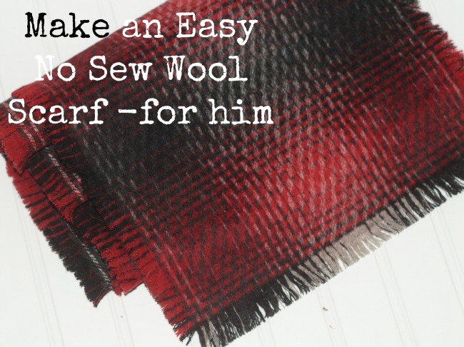 Make an easy no sew wool scarf