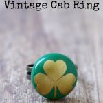 Make this Easy Good Luck Vintage Cab Ring