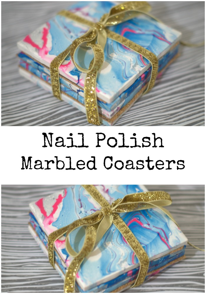 How to make nail polish marbled coasters