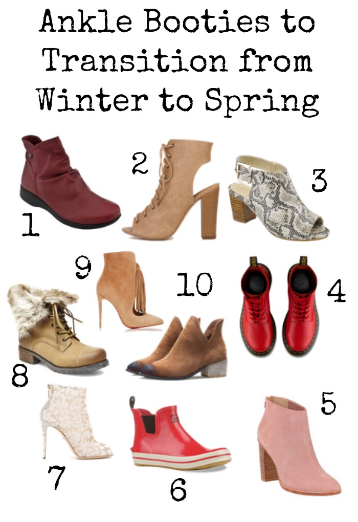 Ankle booties that transition from winter to spring