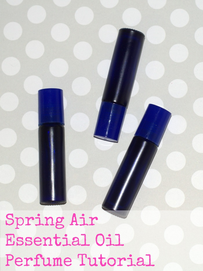 How to make your own essential oil perfume and a recipe for a spring scent.