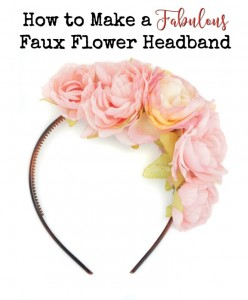 How to make a gorgeous faux flower headband - quickly and easily