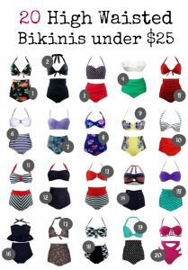 20 high waisted bikinis that are under $25