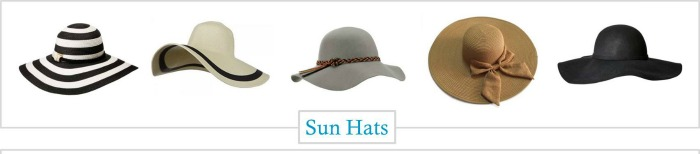 Sun hats for summer into fall