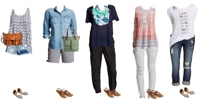 Target Summer into Fall Mix & Match Fashion Wardrobe