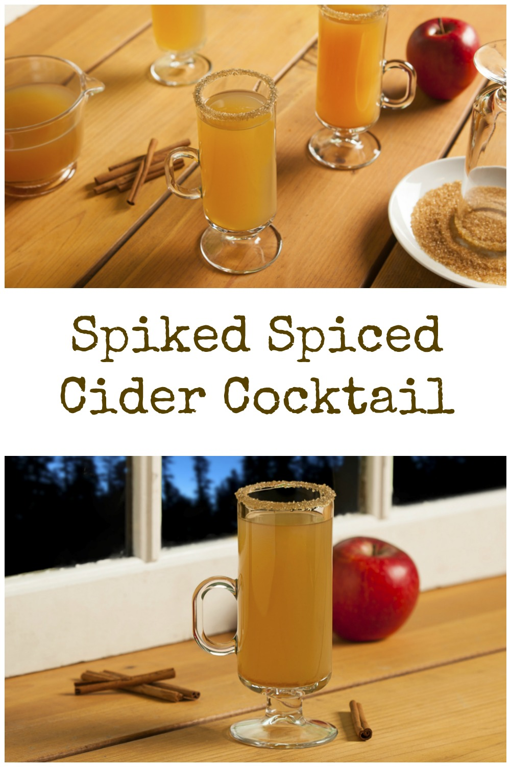 Try a Spiked Spiced Cider Cocktail that's perfect for Autumn.